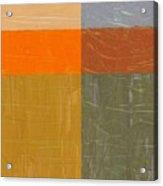 Orange And Grey Acrylic Print