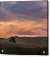 Orange And Purple Cloud Landscape Acrylic Print