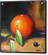 Orange And Purple Acrylic Print by Pepe Romero