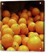 Orange Basket Acrylic Print by Methune Hively