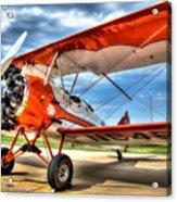 Orange Bi-plane Acrylic Print by Dan Crosby
