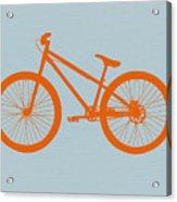Orange Bicycle  Acrylic Print by Naxart Studio