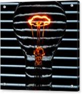 Orange Bulb Acrylic Print