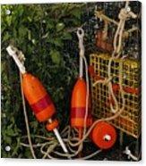 Orange Buoys, Nautical, Marblehead, Ma Acrylic Print
