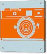Orange Camera Acrylic Print by Naxart Studio