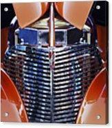 Orange Chevrolet Grille Acrylic Print