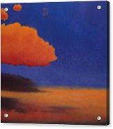 Orange Cloud Acrylic Print