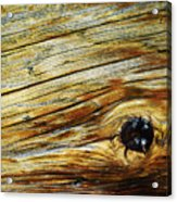 Orange Colored Old Wooden Board Acrylic Print