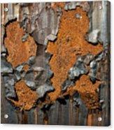 Orange Decay Acrylic Print