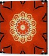 Orange Desert Flower Kaleidoscope Acrylic Print