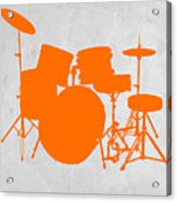 Orange Drum Set Acrylic Print by Naxart Studio