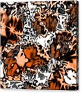 Orange Explosion Acrylic Print