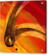 Orange Expressions Acrylic Print