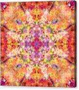 Orange Flower Mandala Acrylic Print