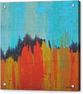 Orange Forest Acrylic Print
