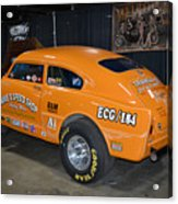 Orange Gasser Acrylic Print