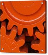 Orange Gear 2 Acrylic Print