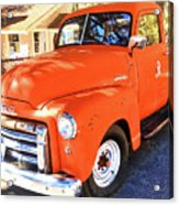 Orange Gmc Pickup Truck In Idyllwild Acrylic Print