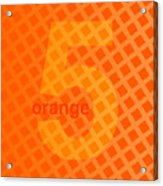 Orange God Astante Acrylic Print