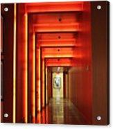 Orange Hallway Acrylic Print