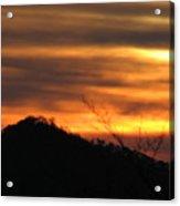 Orange Horizon Acrylic Print