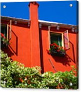 Orange House In Venice Acrylic Print