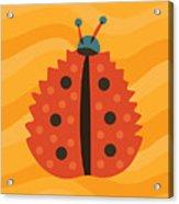 Orange Ladybug Masked As Autumn Leaf Acrylic Print