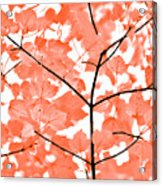 Orange Leaves Melody  Acrylic Print