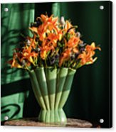 Orange Lilies In June Acrylic Print