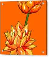 Lotus Flower Tattoo Design Inspired Watercolour Acrylic Print
