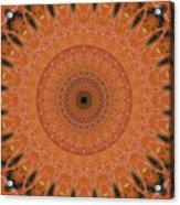 Orange Mandala Acrylic Print