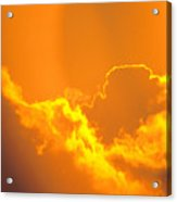 Orange Misty Sky Acrylic Print