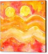 Orange Moons Acrylic Print