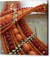 Orange Necklace Acrylic Print