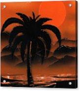 Orange Oasis Acrylic Print