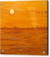 Orange Ocean Acrylic Print