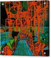 Orange Palas Acrylic Print