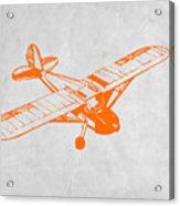 Orange Plane 2 Acrylic Print by Naxart Studio