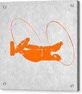 Orange Plane Acrylic Print by Naxart Studio