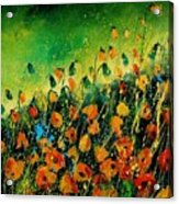 Orange Poppies 459080 Acrylic Print