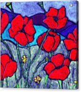 Orange  Red Poppies Acrylic Print