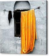 Orange Sari Acrylic Print