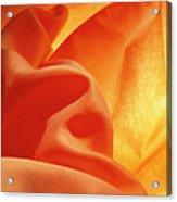 Orange Silk Acrylic Print