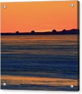 Orange Sky Above The Ice Of Kempenfelt Bay  Acrylic Print