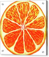 Orange Slice Acrylic Print