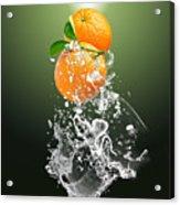 Orange Splash Acrylic Print