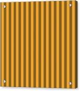 Orange Striped Pattern Design Acrylic Print