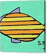 Orange Stripes Acrylic Print