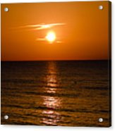 Orange Sunrise Over A Florida Beach Acrylic Print