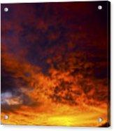 Orange Sunset 1.1 Acrylic Print